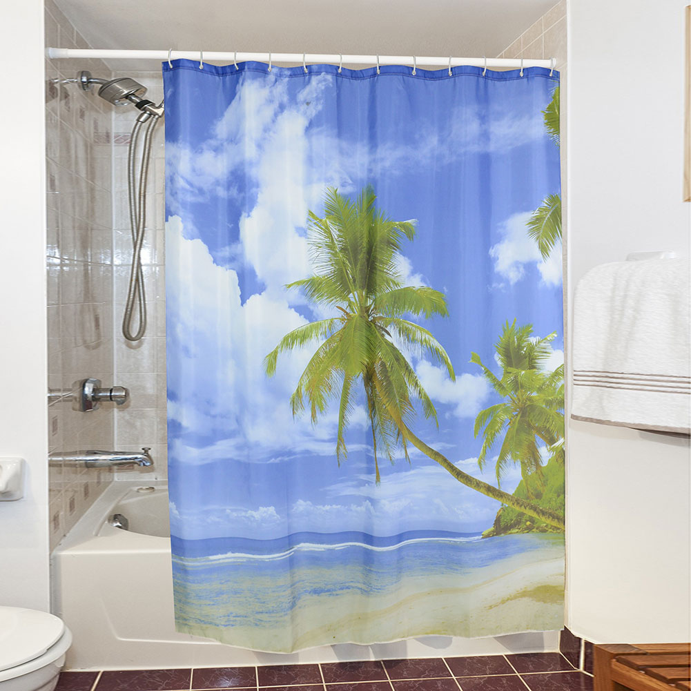 practical printing designed family home swimming pool bathroom shower curtain ebay