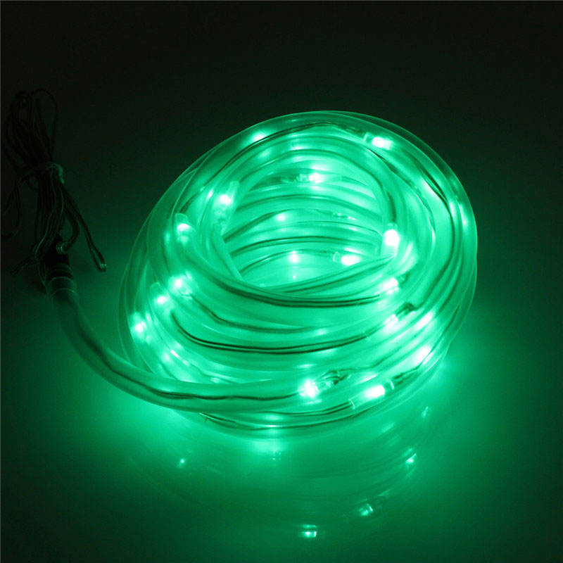 Led Outdoor Strip Lights Uk: 50-LED Solar Rope Tube Strip Light String Auto Control