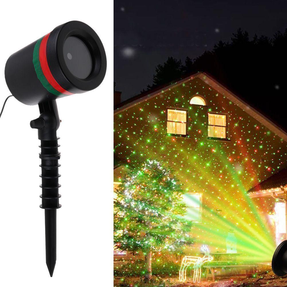 Details Of Cheap Outdoor Christmas Laser Lights Christmas: X-mas Light Laser Light Projector Spotlight R&G Garden