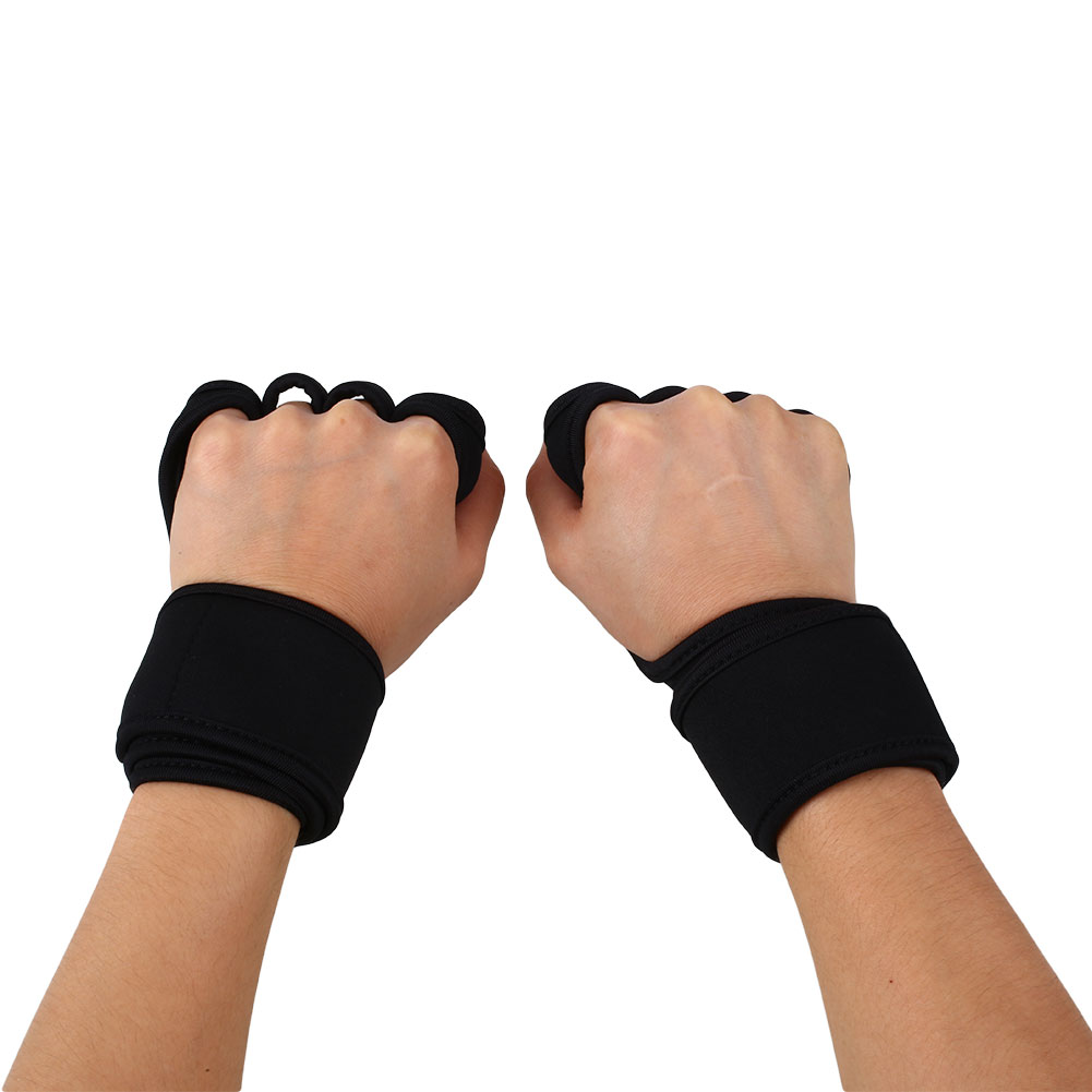 Weight Lifting Gym Gloves Training Fitness Wrist Wrap: 1 Pair Fitness Weight Lifting Gloves Gym Workout Exercise