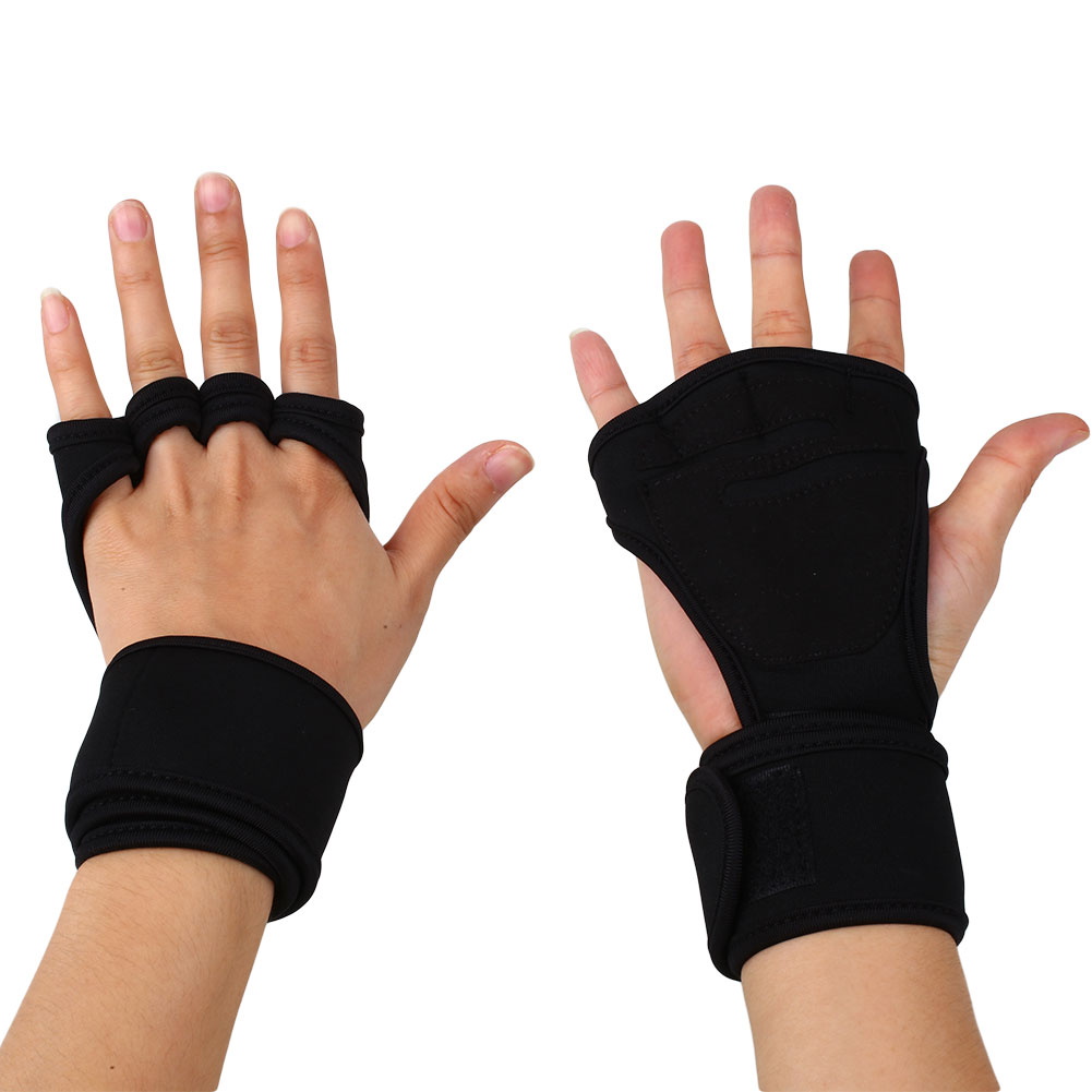 Weight Lifting Gym Gloves Workout Wrist Wrap Sports: 1 Pair Fitness Weight Lifting Gloves Gym Workout Exercise