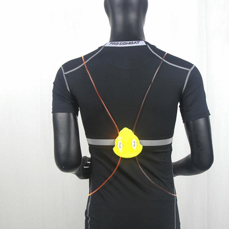 running cycling reflective strap led fiber light vest jacket night sports. Black Bedroom Furniture Sets. Home Design Ideas