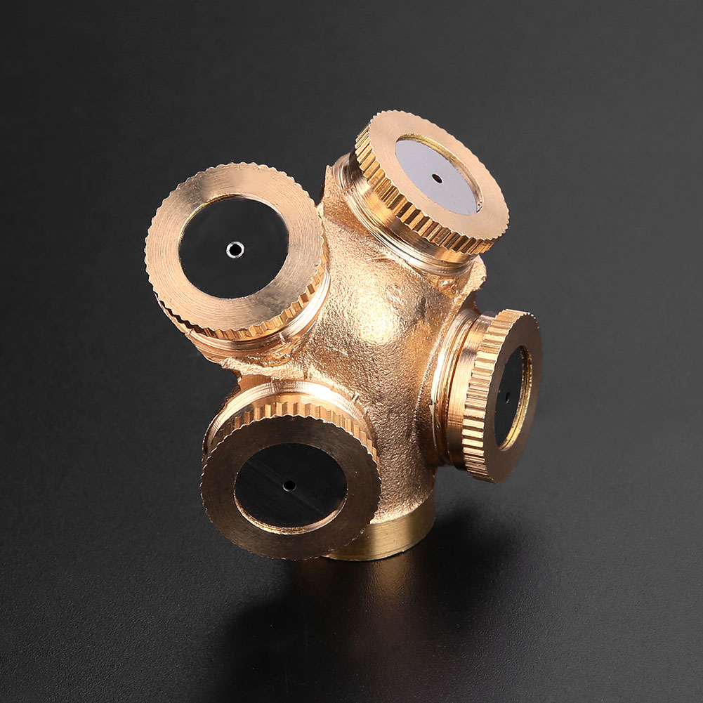 Water Misting Heads : Pro water brass misting spray head nozzles tool kit