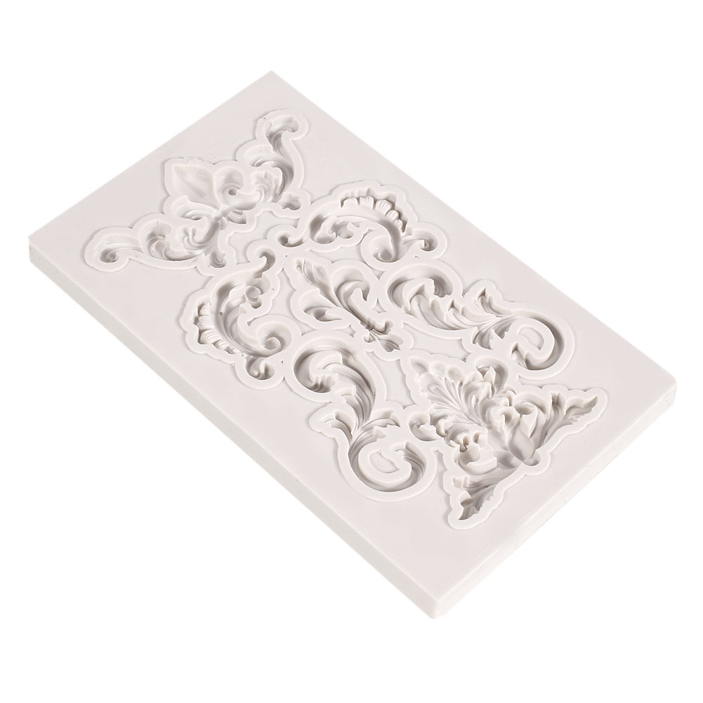95DE-3D-Vintage-Shell-Silicone-Mould-Cake-Paste-Baroque-Sugarcraft-Baking-Tools