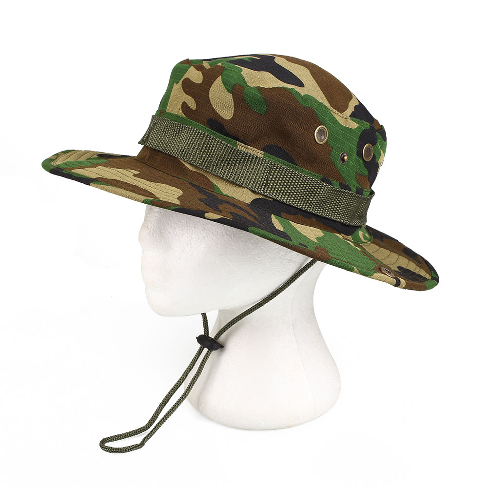 Outdoor fishing camping military jungle camouflage boonie for Fishing sun hat
