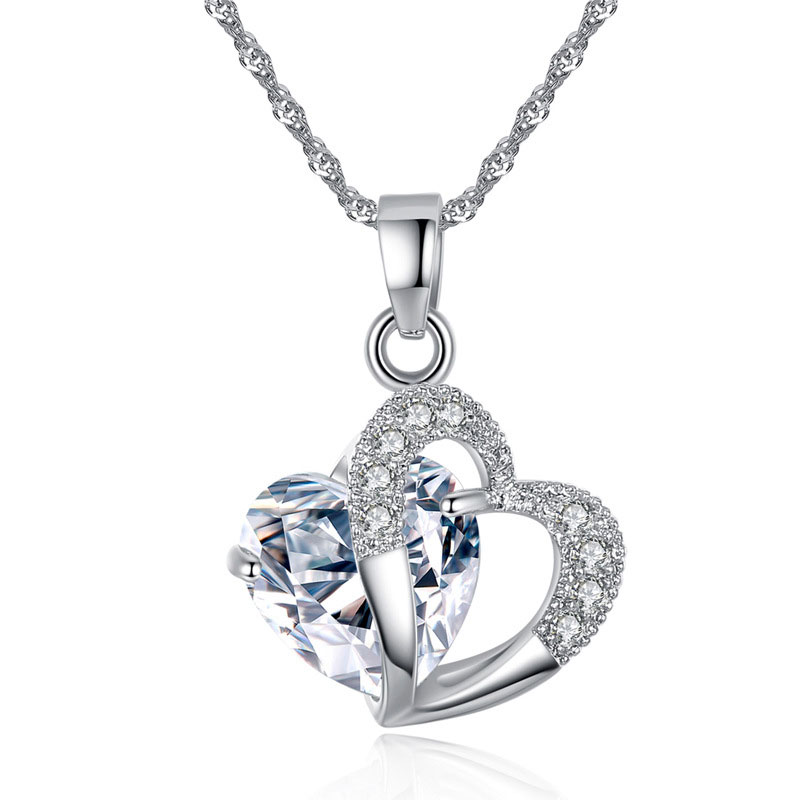 1186-925-Sterling-Silver-Plated-Crystal-Zircon-Amethyst-Heart-Pendant-Necklace