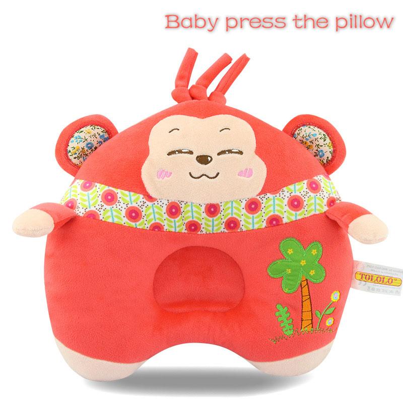 CA5F-Happy-Monkey-Baby-Pillow-Prevent-Flat-Head-Sleep-Positioner-Soft-2017