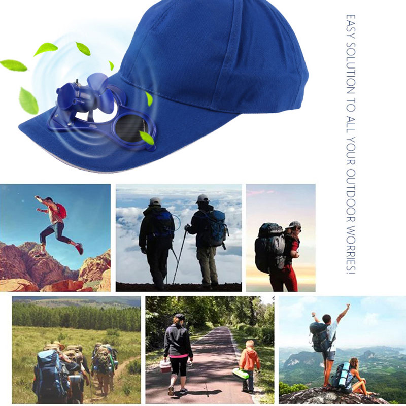 0176-Sport-Hat-Cap-with-Solar-Sun-Power-Cool-Cooling-Fan-For-Cycling-Hiking-NEW