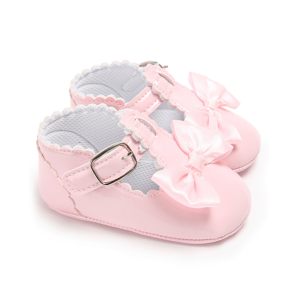 FCD6-Baby-Girl-Princess-Bowknot-Anti-Slip-First-Walker-Casual-Overshoes-Shoes