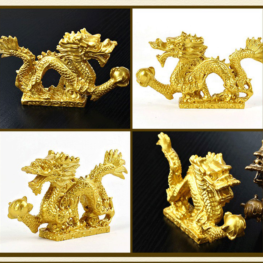 5219-Dragon-Figurine-Chinese-Feng-Shui-Statue-Exhibition-Decoration-Gold-Bronze
