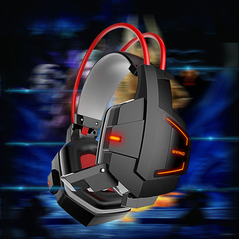890E-Wire-Computer-Game-Internet-Cafes-Head-Hanging-Headset-With-LED-Flashing