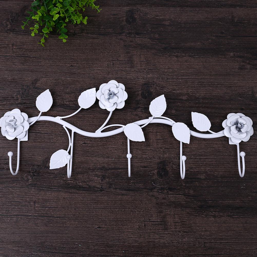 7962-Rose-Over-The-Door-Wall-Hanging-Hook-Rack-Clothes-Hanger-Bedroom-Kitchen