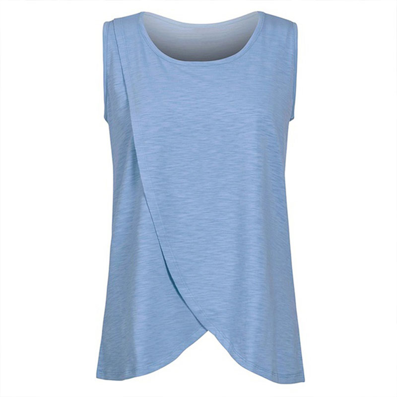 7FC0-New-Maternity-Nursing-Tops-T-Shirts-Breastfeeding-Clothes-Fashion-M-BLUE