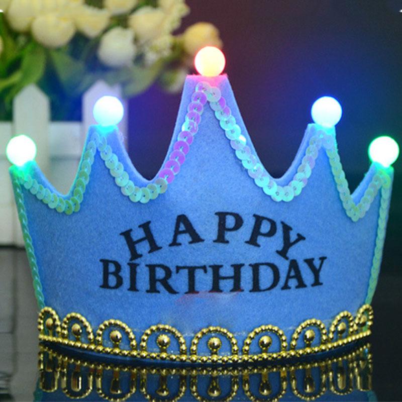 Cute Funny Lightning Boy Girl Birthday Crown Hat Prince ...