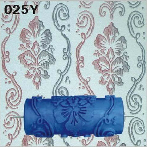 5E63-15cm-Flower-Blue-Rubber-Painting-Roller-Paint-Wall-Decoration-Decor-Art