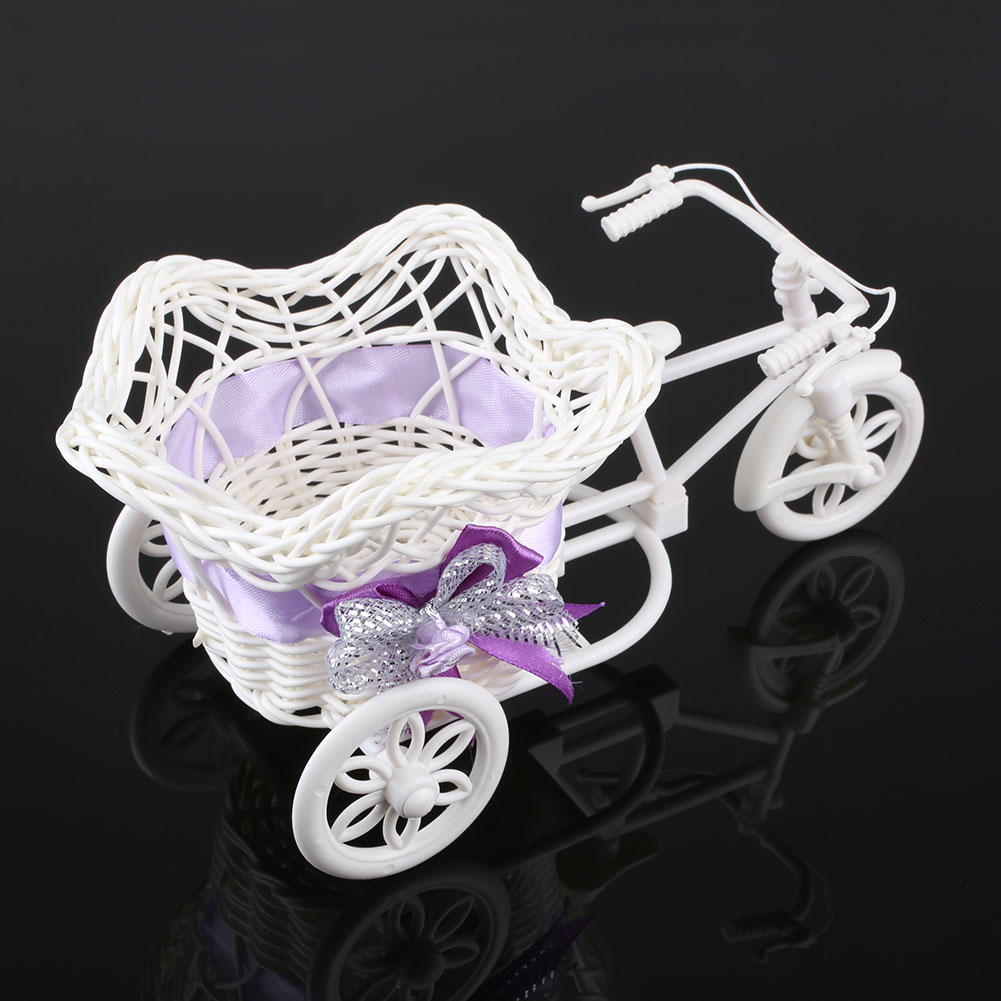 16FB-Tricycle-Bike-Pentagram-Basket-Container-Vases-Flower-Plant-Decoration