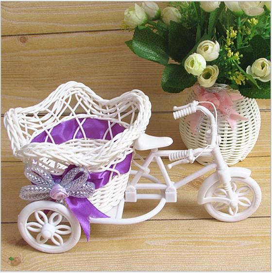 16FB-Tricycle-Bike-Pentagram-Basket-Container-Vases-Flower-Plant-Decoration