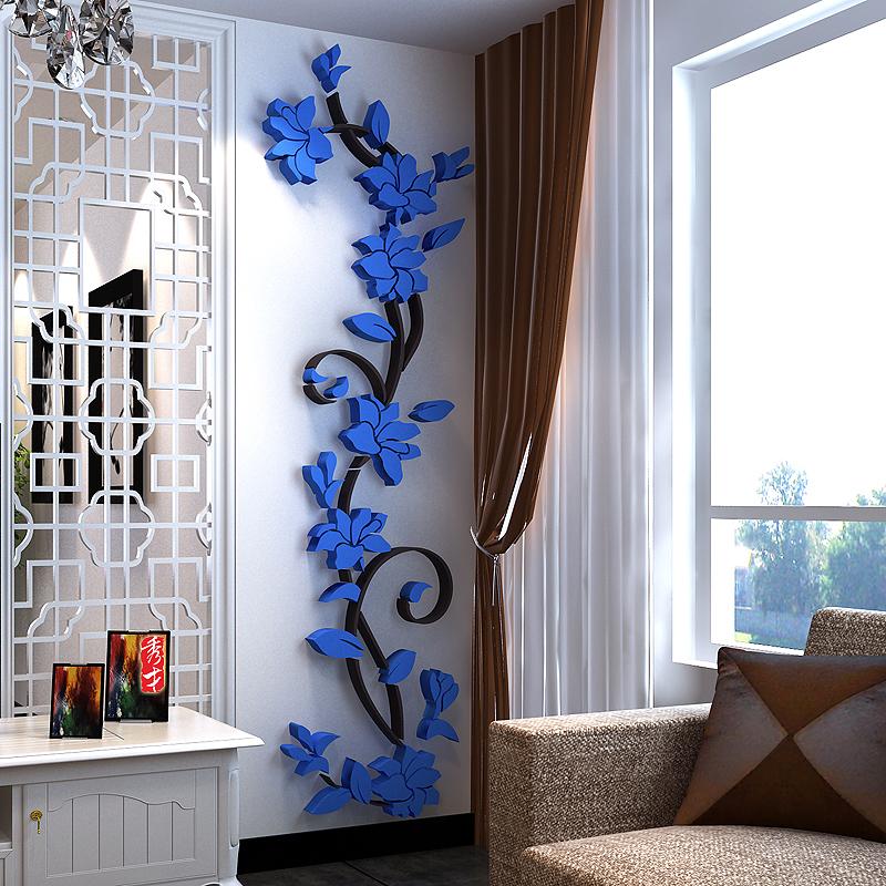 EF0B-3D-Flora-Designed-Flower-Bedroom-Kitchen-Home-Decor-Wall-Hallway-Sticker