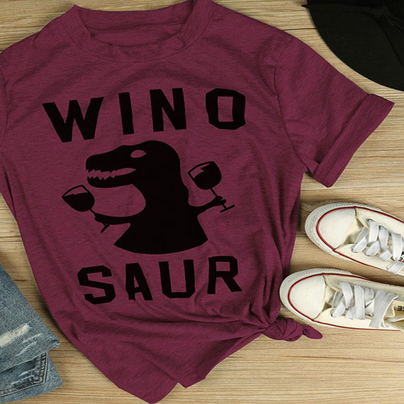 4E7D-Winosaur-Dinosaur-Printed-Short-Sleeve-T-Shirt