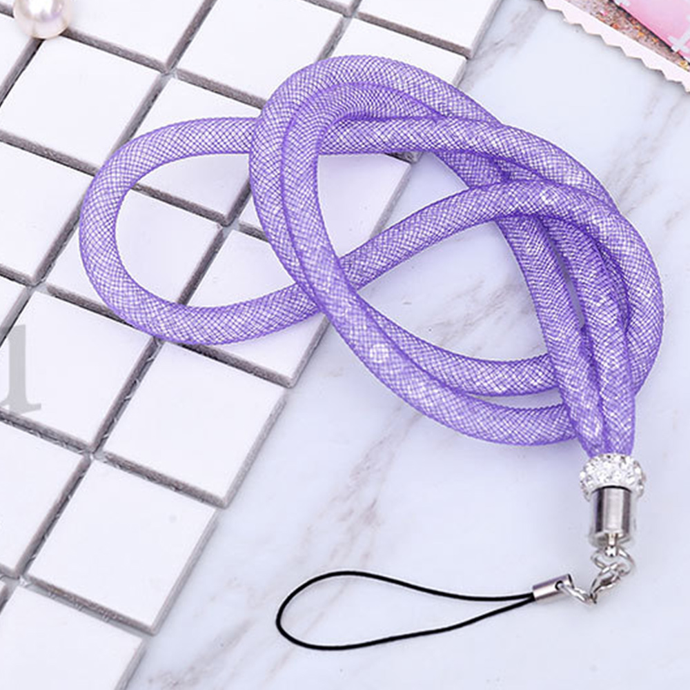 7DAB-48CM-Bling-Crystal-Fashion-Creative-ID-PASS-Card-Belt-Hang-Chain