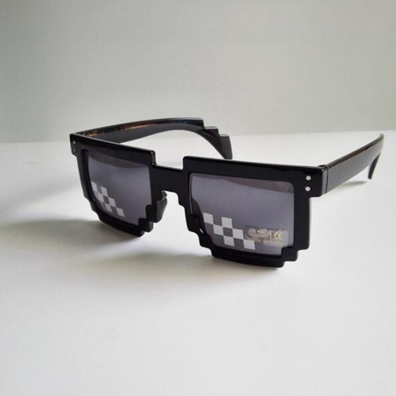 Unisex Sunglasses Mosaic Pixel Glasses Eyewear Vintage