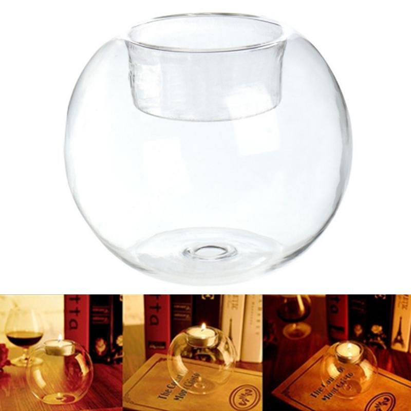 Table Gl Ball Candle Holder Terrarium Bauble Vase Wedding Home ... on