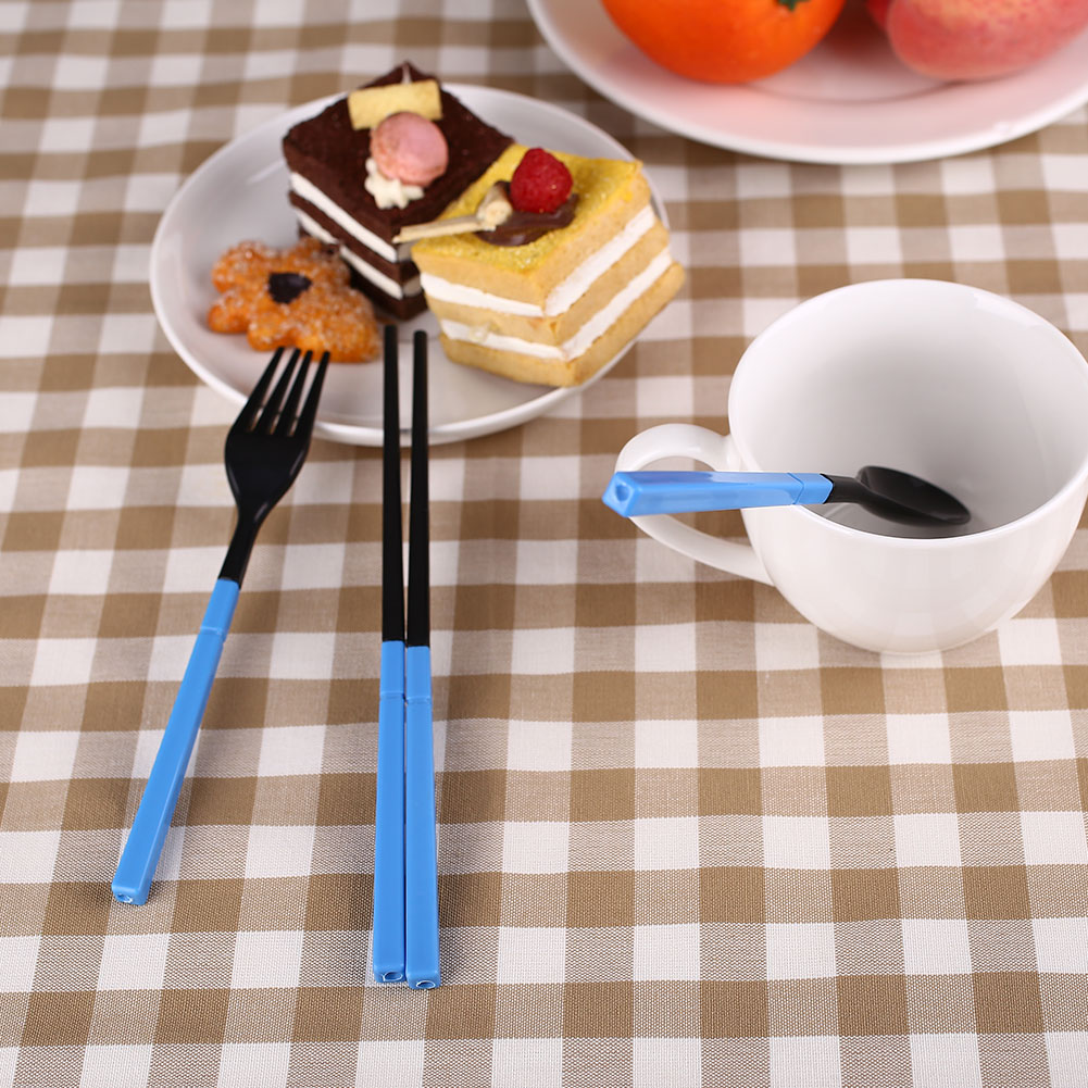 00E2-Foldable-Tableware-Dinner-Set-Chopstick-3Pcs-Set-Outdoor-Traveling-Portable