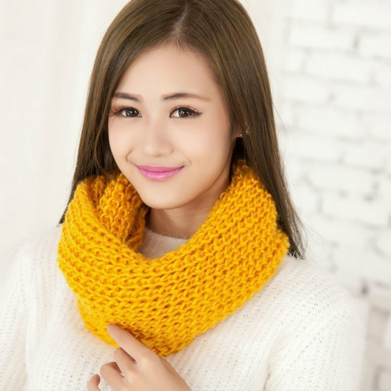 8AEE-Men-Women-Winter-Warm-Cable-Knitted-Wool-Circle-Neck-Scarf-Snood-Ring-Wrap thumbnail 7