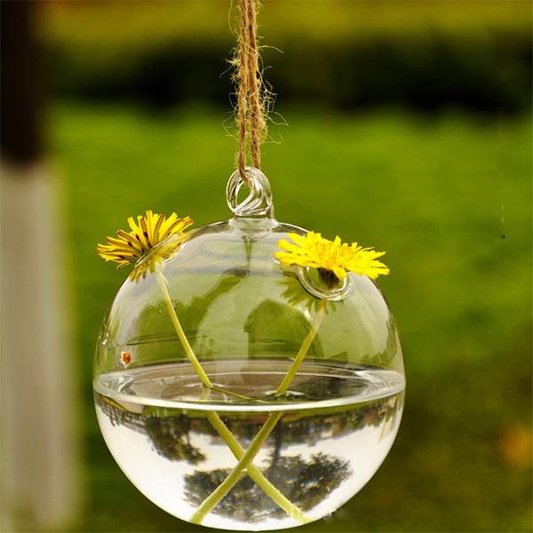 407B-Cute-Clear-Hole-Glass-Angel-Shape-Flower-Plant-Hanging-Vase-Office-Decor