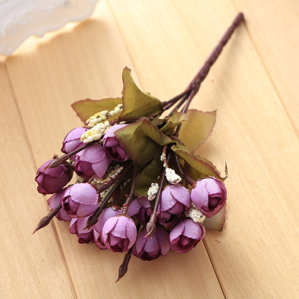 5CFB-15-Flower-Heads-Artificial-Camellia-Flowers-Floral-Home-Decoration-Decor