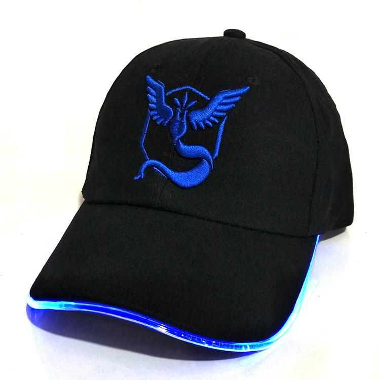 BD8D-New-Fashion-Chic-LED-Light-Pokemon-Go-Glow-Cap-Hat-Team-Valor-Baseball