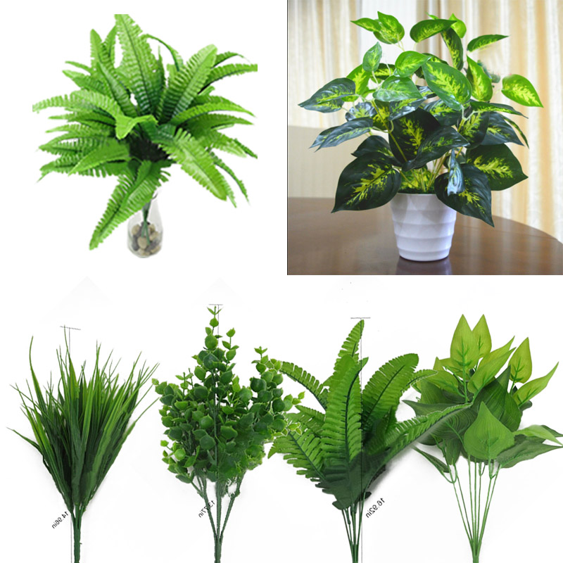 ED7D-Artificial-Plants-Outdoor-Fake-Flower-Leaf-Bush-Home-Office-Garden-Decor
