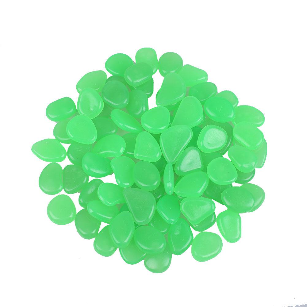 E692-100Pcs-Pack-Glow-Pebbles-Stone-Fish-Tank-Outdoor-Decor-Stones-Luminous