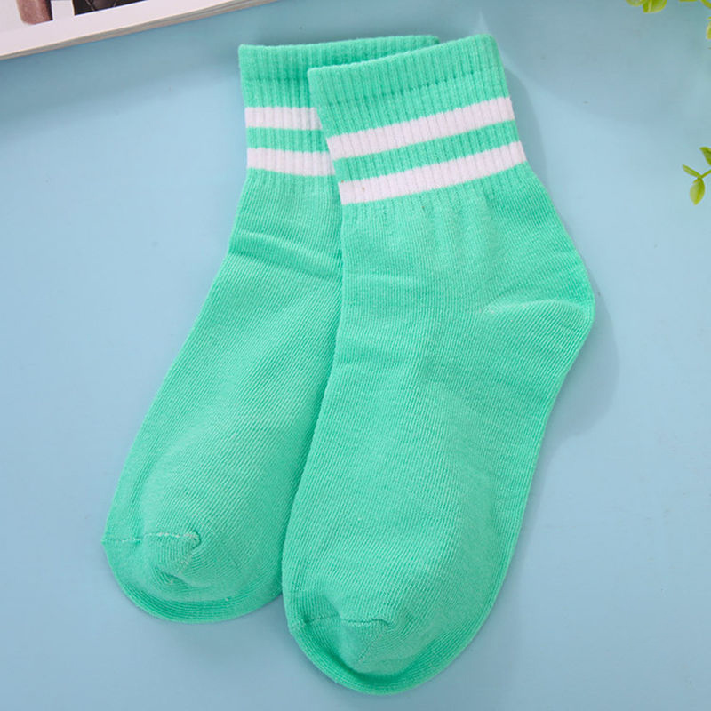 5087-Men-039-s-Casual-Ankle-Crew-Low-Cut-Multi-Color-Striped-Sport-Socks-One-Size