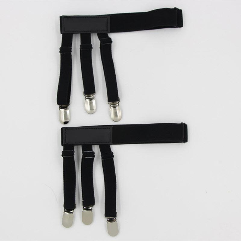 925F-2PCS-Holders-Elastic-Shirt-Garter-1Pair-Non-Slip-Locking-Belt-Suspenders