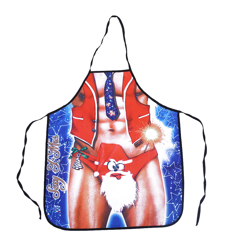 82A1-Sexy-Funny-Novelty-Christmas-Kitchen-Cooking-BBQ-Aprons-Men-039-s-Waist-Pinny