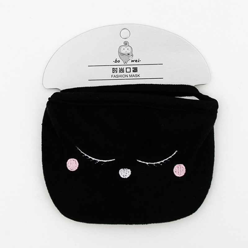 A68C-Anti-Dust-Cotton-Mouth-Face-Mask-Man-Cycling-Wearing-Black-Fashion-Funny