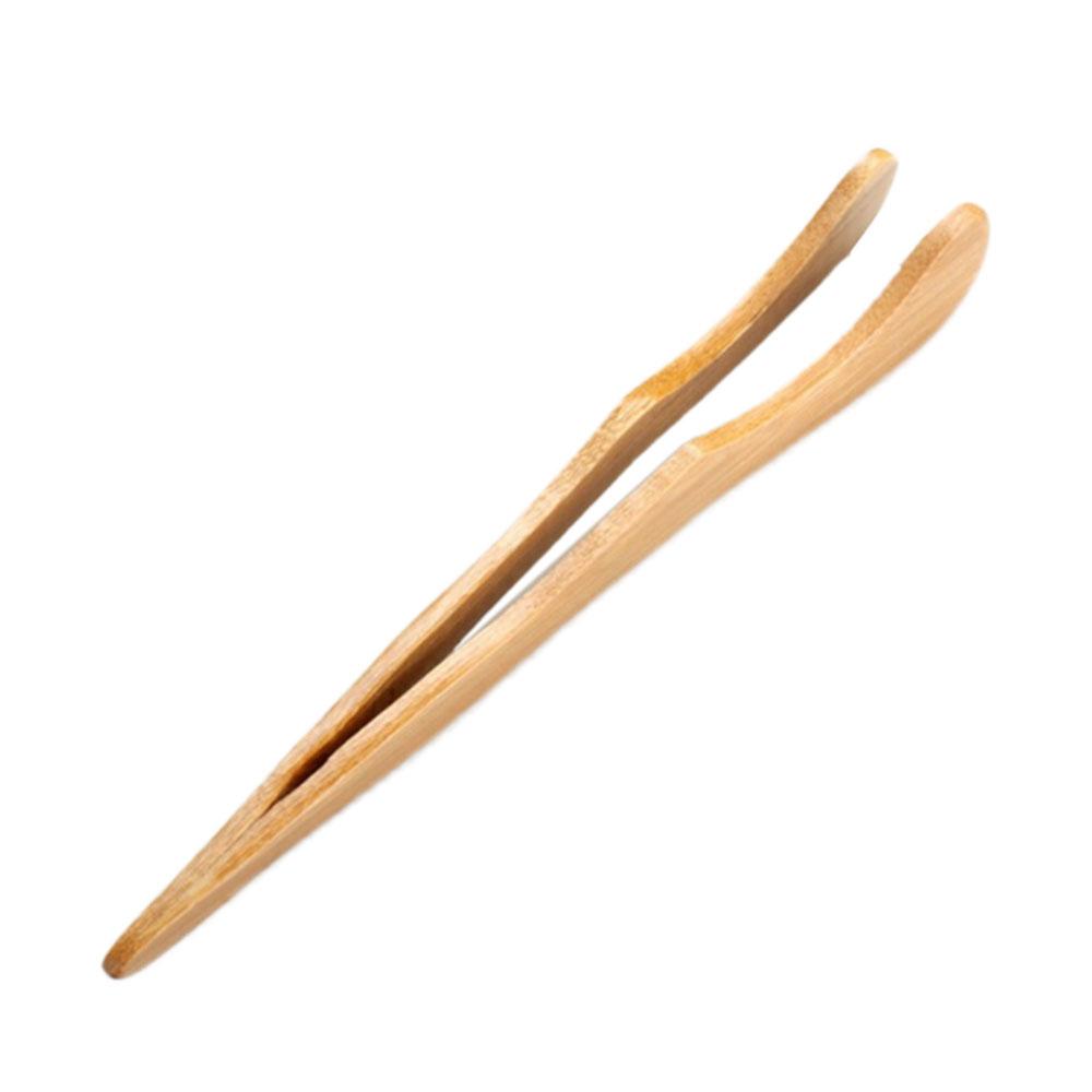 94DB-Ice-Tea-Tea-Tweezer-Economic-Straight-Curved-Wood-Toaster-Tongs-Bacon