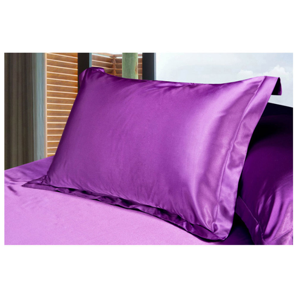 7D9B-Real-Silk-Cover-Satin-Pillow-Soft-Pillowcase-Cool-Polyester-9-Colos-Queen