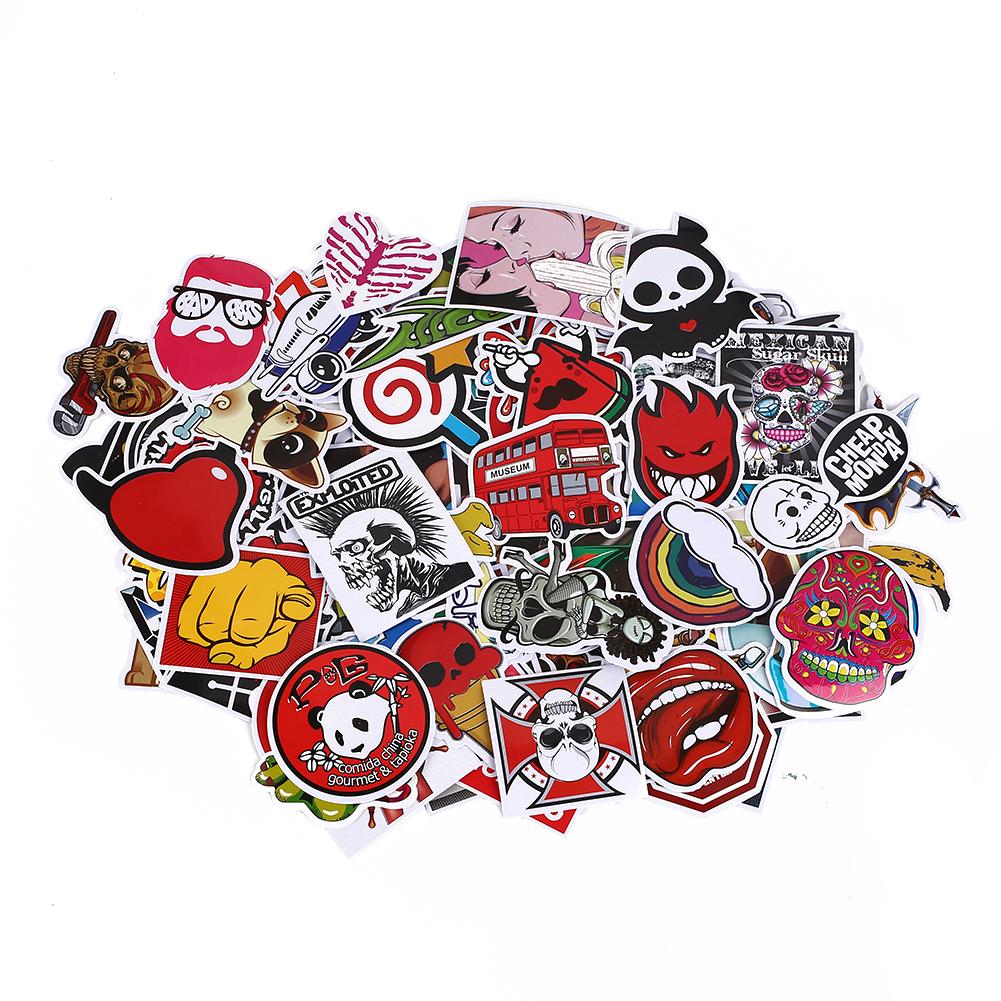 2053-Luggage-Longboard-Graffiti-Skateboard-Stickers-Funny-PVC-100pcs-Skateboard