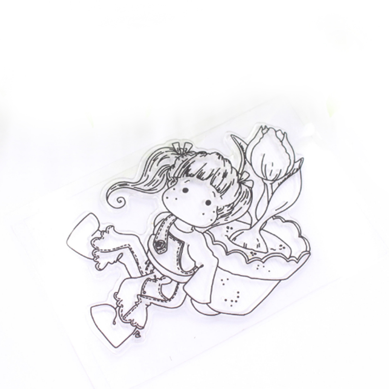 7E5E-Stamp-Seal-Clear-Stamp-Cards-Embossing-Gift-Cute-Girl