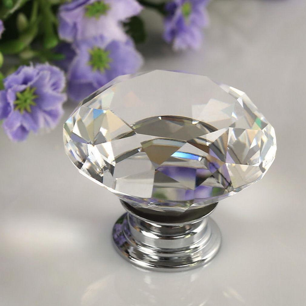 0CE7-1-4-8PCS-30mm-Crystal-Diamond-Glass-Pull-Handle-Drawer-Cupboard-Door-Knob
