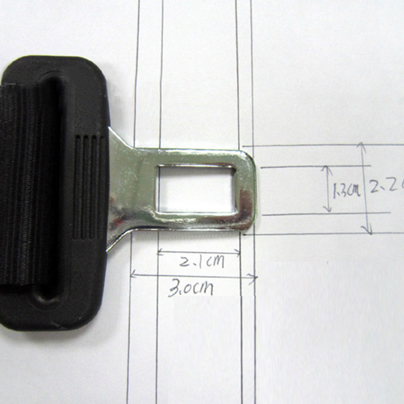 "A46C 1pcs 14/"" Car Seat Seatbelt Safety Extender Belt 7//8/"" Buckle Fitting Black"