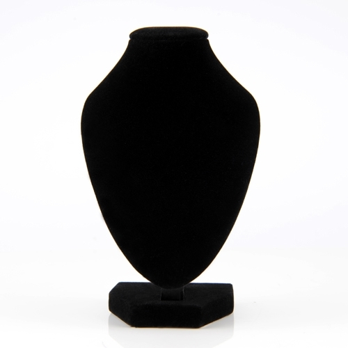 3B9C-Useful-1-5-10pcs-Black-Velvet-Jewelry-Display-Bust-Short-Necklaces-Stand