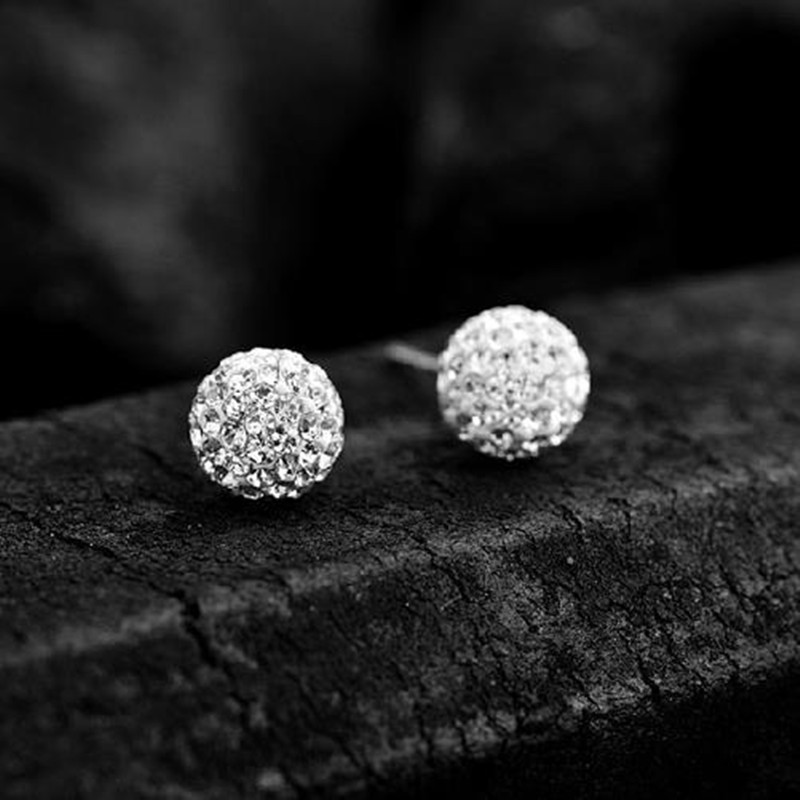 B0E6-2015-New-High-Fashion-1-925-Silver-Crystal-Ball-Earrings-10mm-Wedding