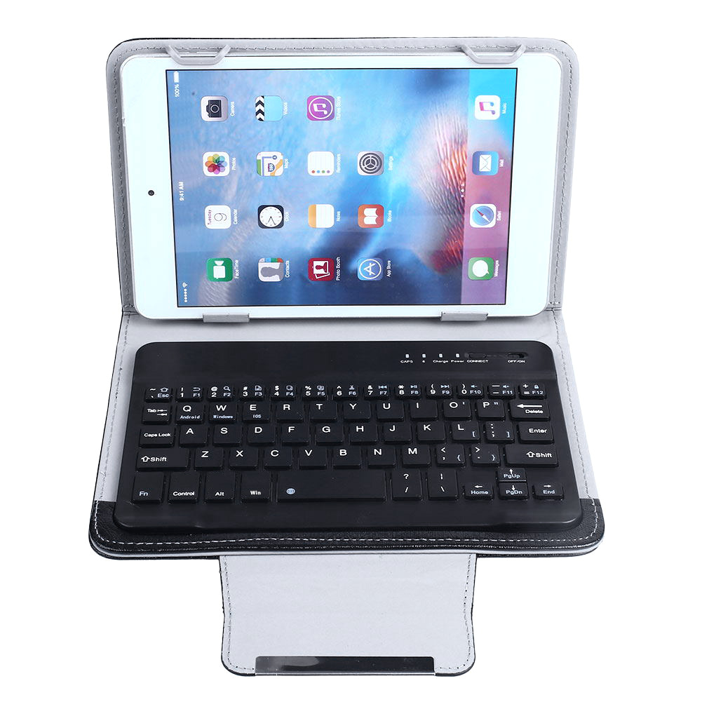 EC62-BALCK-Leather-Bluetooth-3-0-Keyboard-stand-Case-For-7-034-7-9-034-ipad-mini