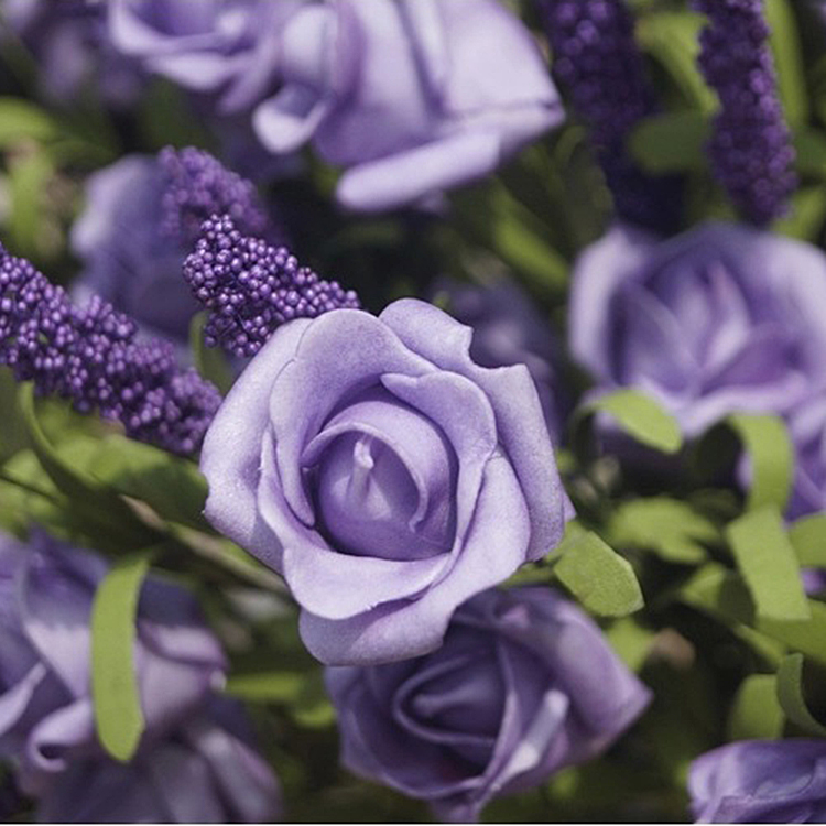 0BCF-Bridal-9-Heads-Lavender-Rose-Artificial-Silk-Flowers-Hydrangea-Bouquet