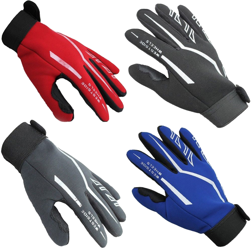 Fashion Mens Full Finger Sport Gloves Exercise Fitness Gym Workout Gloves Black