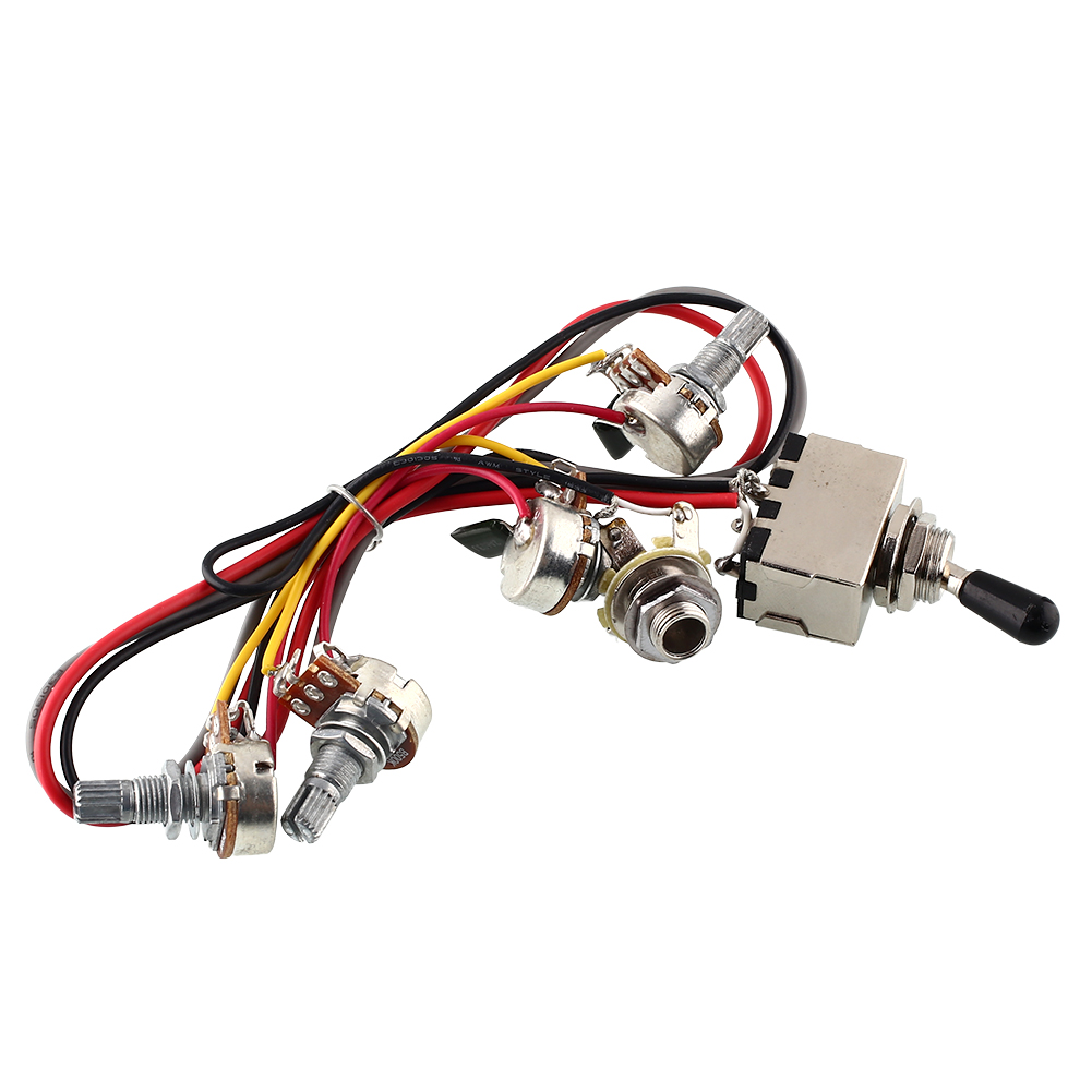 Ebay 3 Way Toggle Switch Wiring Wire Data Schema Diagram For Guitar F569 Harness 2v 2t 500k Pots Dual Humbucker Rh Co Uk Positions