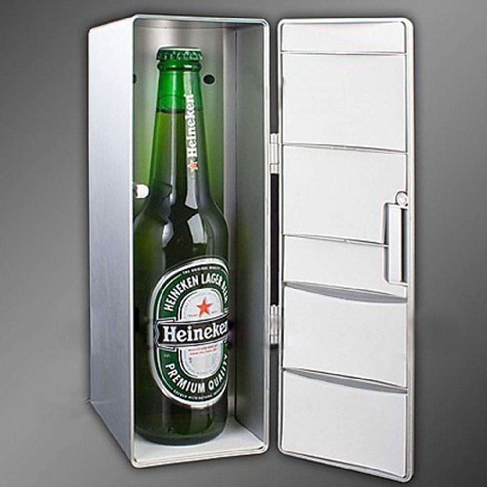 Mini Usb Cooler Warmer Fridge Desktop Cooling Refrigerator Beverage White 5148